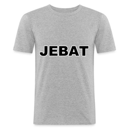 Jebat outline - Männer Slim Fit T-Shirt