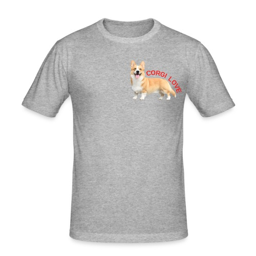 CorgiLove - Men's Slim Fit T-Shirt