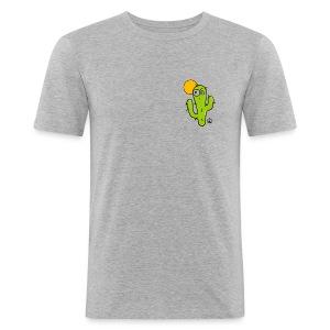 Cactus Cartoon - Tee shirt près du corps Homme