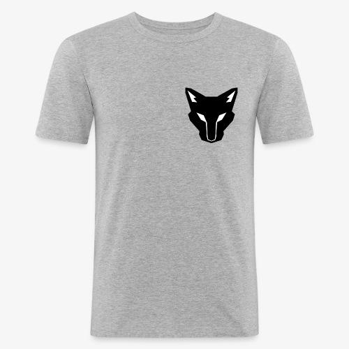 OokamiShirt Noir - T-shirt près du corps Homme
