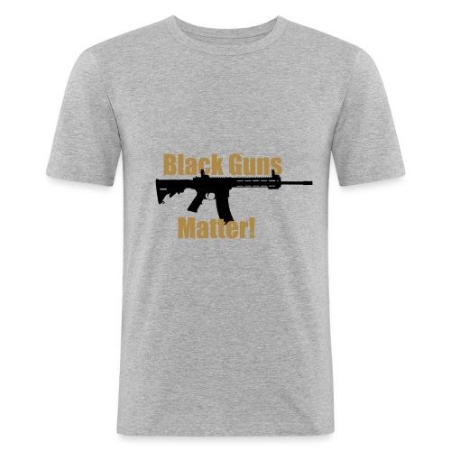 BLACK GUNS MATTER - Männer Slim Fit T-Shirt