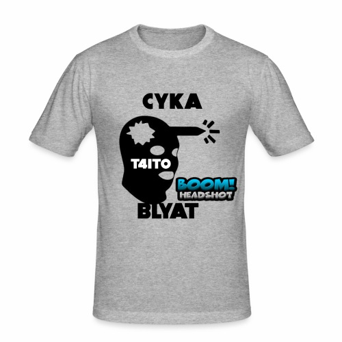 CYKA BLYAT T4IT0 - Männer Slim Fit T-Shirt