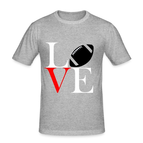 Love Symbol im Football Style - Männer Slim Fit T-Shirt