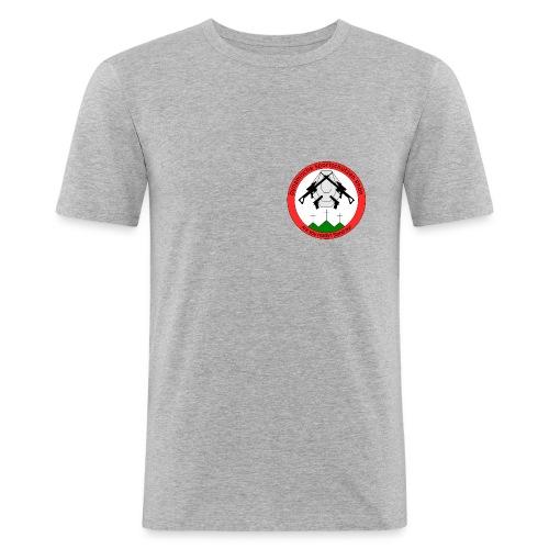 Logo Dynamische Sportschuetzen Rhoen DSR - Männer Slim Fit T-Shirt