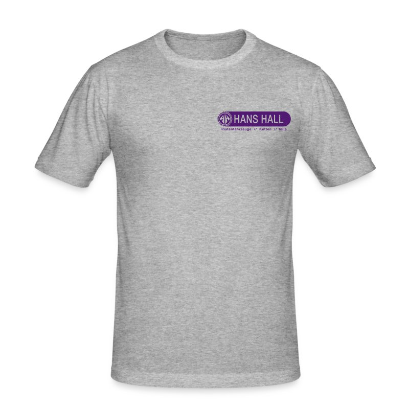 HANS HALL GmbH Logo - Männer Slim Fit T-Shirt