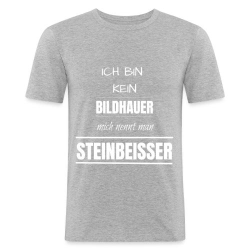 Bildhauer Beruf Spruch lustig Geburtstag Geschenk - Männer Slim Fit T-Shirt