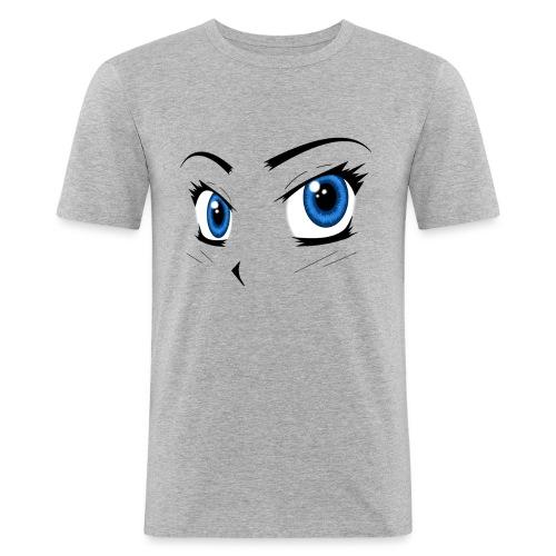 Manga Eyes - Men's Slim Fit T-Shirt