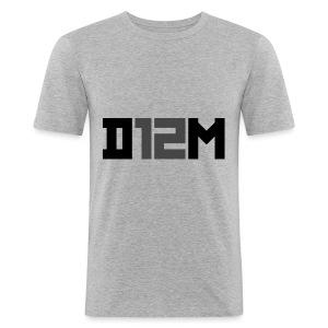 D12M: SHORT BLACK - slim fit T-shirt
