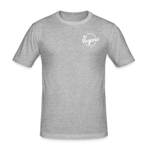 Yo Vegano Basic Design - Logo - Männer Slim Fit T-Shirt
