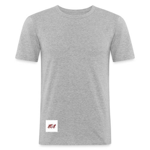 808 red on white box logo - Men's Slim Fit T-Shirt