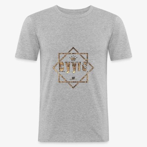 Cyyro Official Logo GOLD - Männer Slim Fit T-Shirt