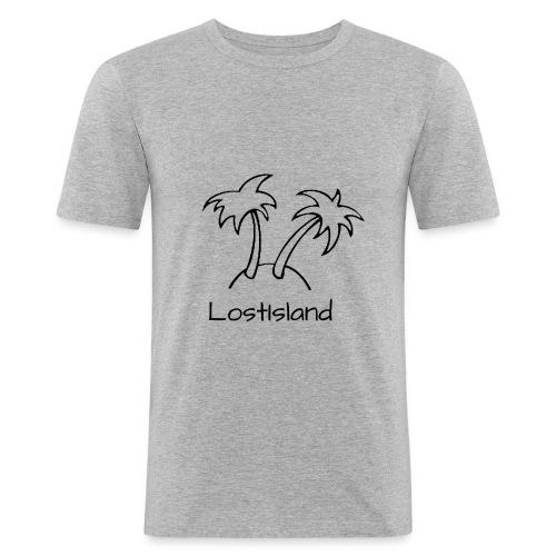 LostIsland ~ Palme - Männer Slim Fit T-Shirt