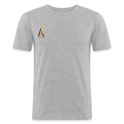 Simple Black - Männer Slim Fit T-Shirt