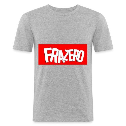 FRAZERO RED BOX DESIGN - Men's Slim Fit T-Shirt