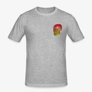 Silver red and yellow skull - Men's Slim Fit T-Shirt