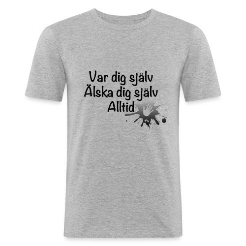 Forever Svart/vit - Slim Fit T-shirt herr