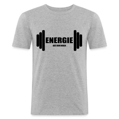 energie aus dem boden - Männer Slim Fit T-Shirt
