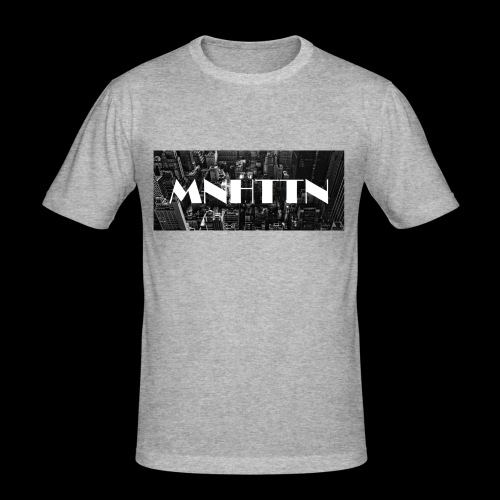 MNHTTN - New York Manhattan Downtown - Männer Slim Fit T-Shirt