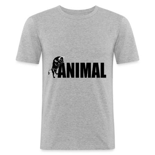animal palestra - Maglietta aderente da uomo