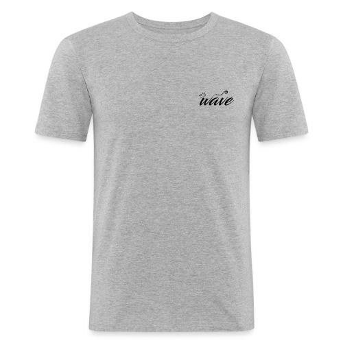 Curvy Wave Clothing Logo - Men's Slim Fit T-Shirt