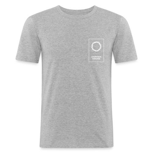 Dornenkrone Logo - Männer Slim Fit T-Shirt