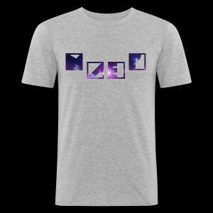 Blue Galaxy - Männer Slim Fit T-Shirt