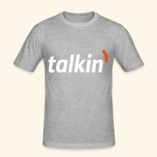 talkin' white on gray - Männer Slim Fit T-Shirt