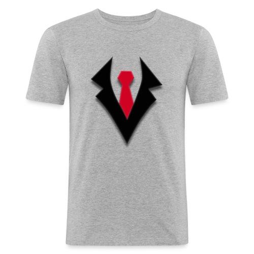 KevTube Logo - Männer Slim Fit T-Shirt