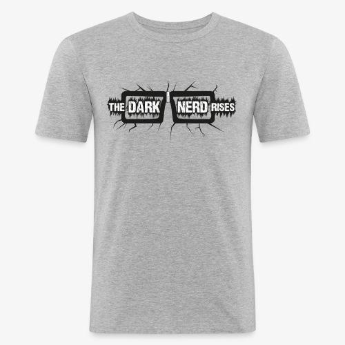 The Dark Nerd Rises (Heller Hintergrund - Männer Slim Fit T-Shirt
