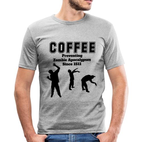 coffee apocalypse - Männer Slim Fit T-Shirt