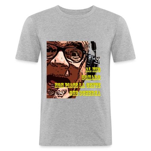 Caro Carlo mio somaro - Maglietta aderente da uomo