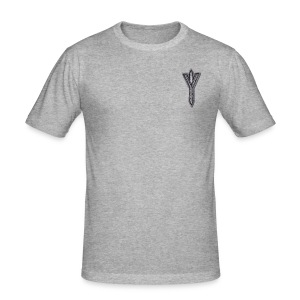 Algiz Rune - Connection with Asgard / Protection - Men's Slim Fit T-Shirt