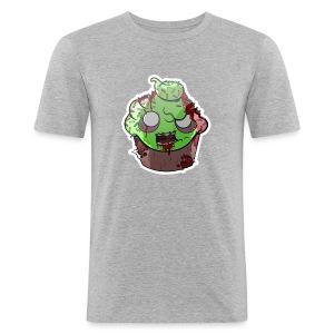Cupake zombie couleur - Tee shirt près du corps Homme