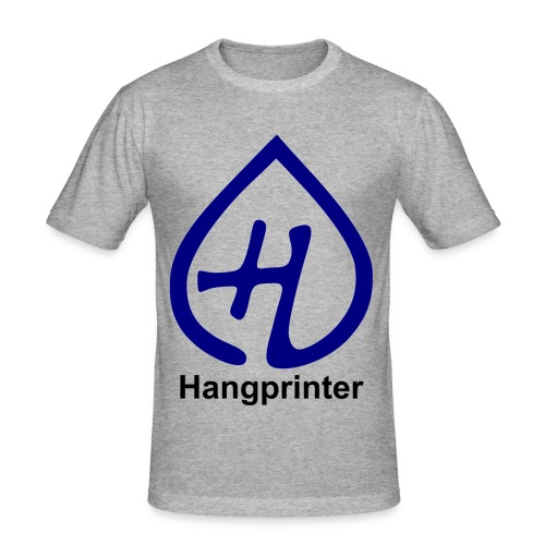 Hangprinter logo and text - Slim Fit T-shirt herr