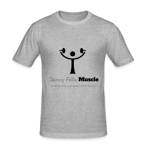 Logo T-shirt - Heather Grey - Men's Slim Fit T-Shirt