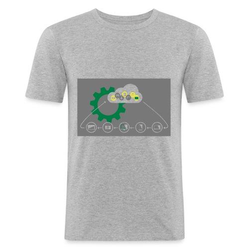 Pilvilaskenta - Miesten tyköistuva t-paita