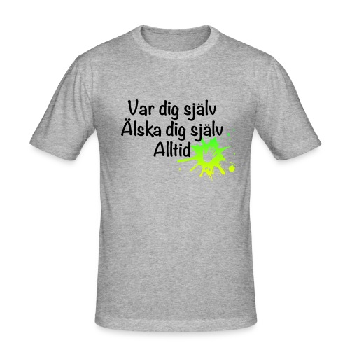 Forever Grön/gul - Slim Fit T-shirt herr