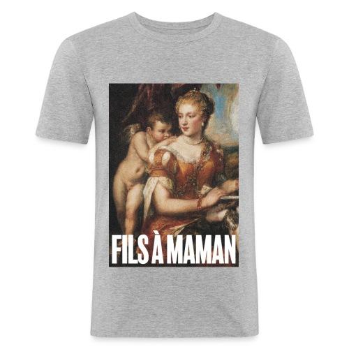 Fils à maman - T-shirt près du corps Homme