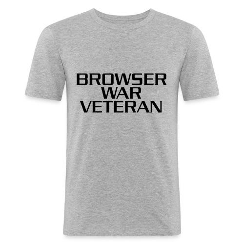 Kampf gegen die Browser - Männer Slim Fit T-Shirt