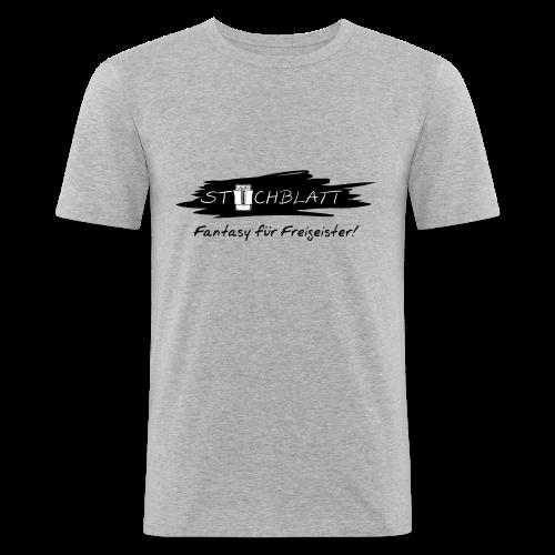 Stichblatt Fantasy für Freigeister! (schwarz) - Männer Slim Fit T-Shirt