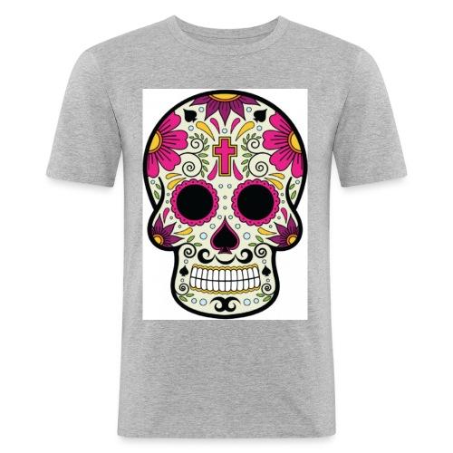 tête messico - T-shirt près du corps Homme