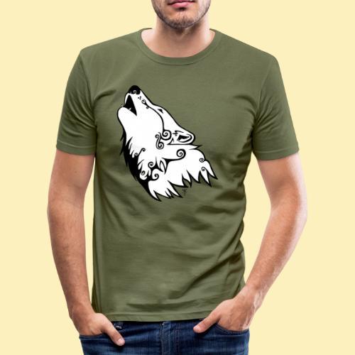 Le Loup de Neved (version blanche) - T-shirt près du corps Homme