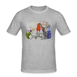 Robin with Ivy Design - Men's Slim Fit T-Shirt