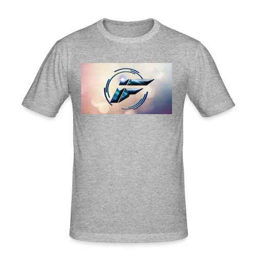 Logo and background - Men's Slim Fit T-Shirt