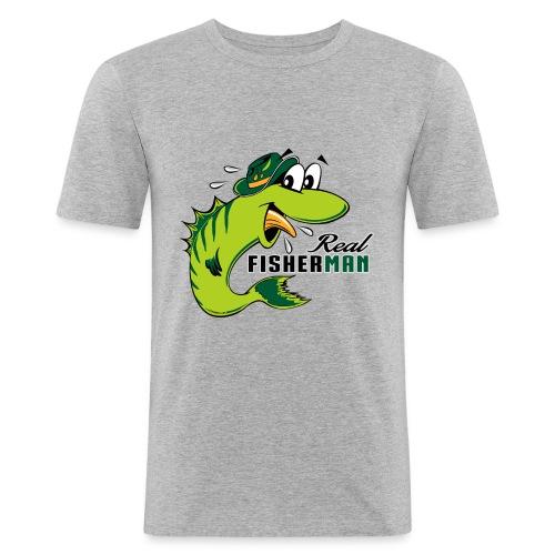10-38 REAL FISHERMAN - TODELLINEN KALASTAJA - Miesten tyköistuva t-paita