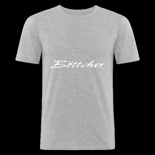 Böttcher Schriftzug - Männer Slim Fit T-Shirt
