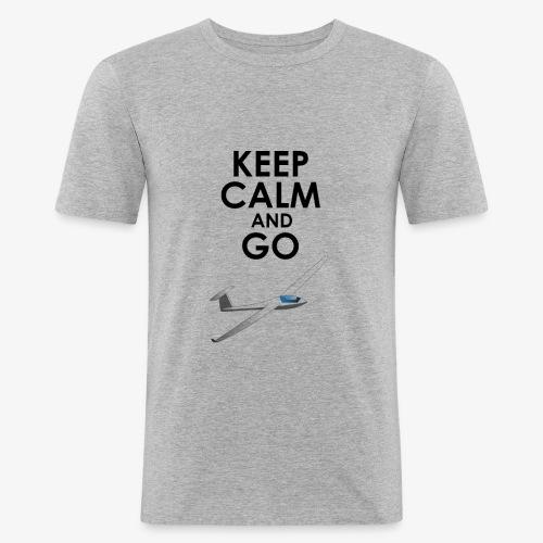 Keep Calm and Go Gliding - T-shirt près du corps Homme