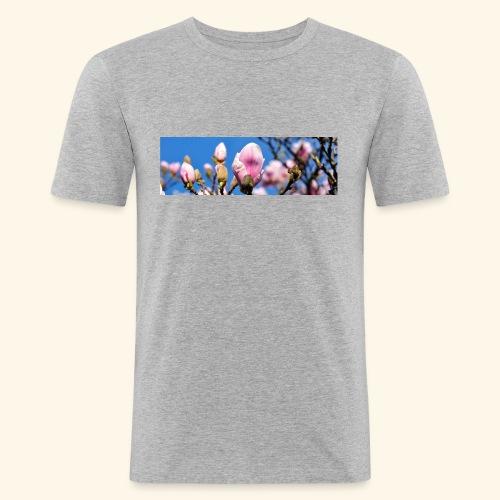 1040659 magnolia hintergrund - Männer Slim Fit T-Shirt