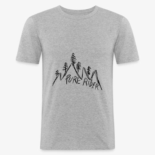 PureRider Berg - Männer Slim Fit T-Shirt