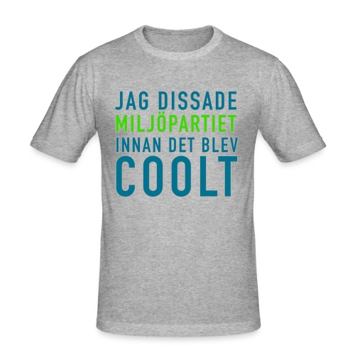 Dissa Miljöpartiet - Slim Fit T-shirt herr